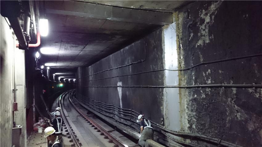 Taipei MRT Tanshui Line Continual Wall Seepage