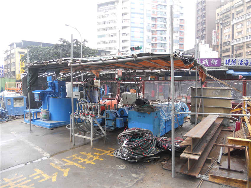 Taipei MRT Songshan Line Connection Channel Ground Improvement