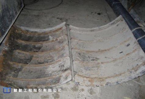 管道切削斷面完整並無破碎現象