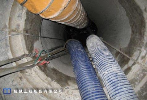 污水泵導流降低受損幹管內水位高度,減少汙水流出造成環境及RPC幹管受損斷面受到過度污染