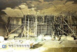 某建築物於構築期間發生火災