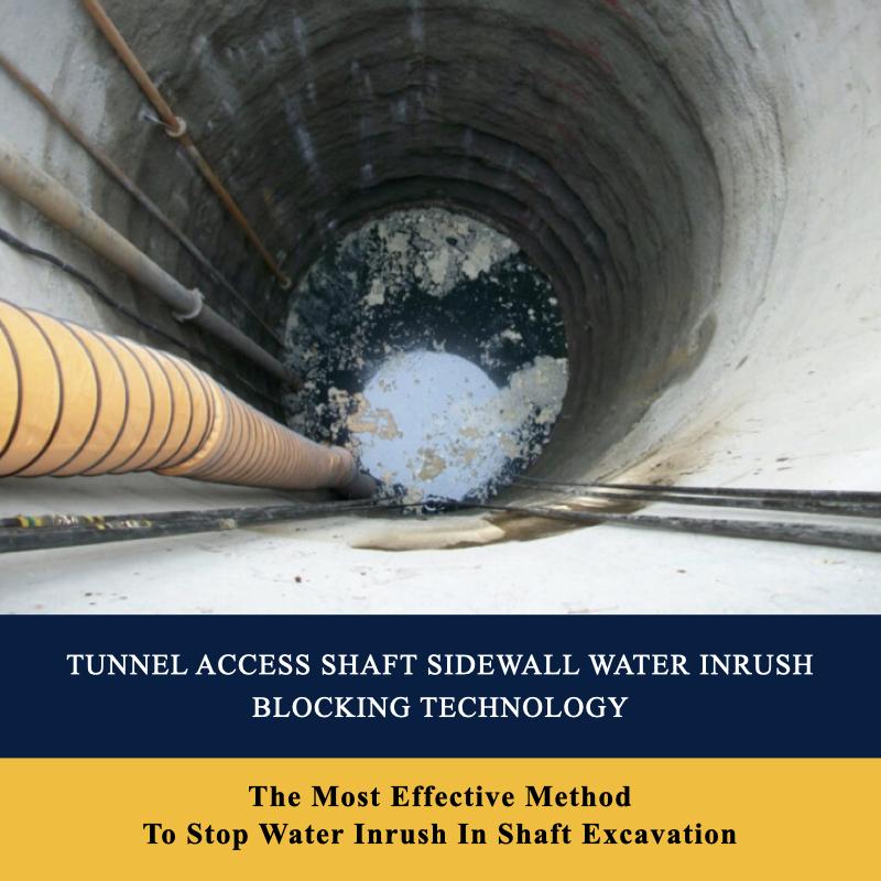 Tunnel Access Shaft Sidewall Water Inrush Blocking Technology