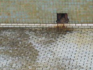 進水口周邊泥漿流出