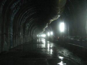 漏水區段隧道長度約120m