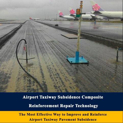 Airport taxiway subsidence composite reinforcement repair technology
